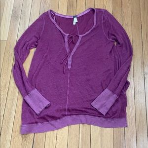 We the free size L maroon top EUC